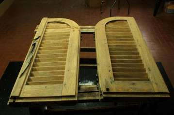 14. Coppia di infissi, falegnameria, anta destra e sinistra, stato di fatto
