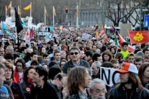manifestazione madrid 2014
