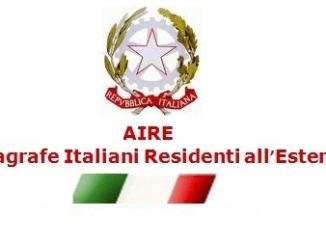 anagrafe AIRE italiani estero