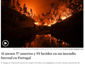 incendio portogallo