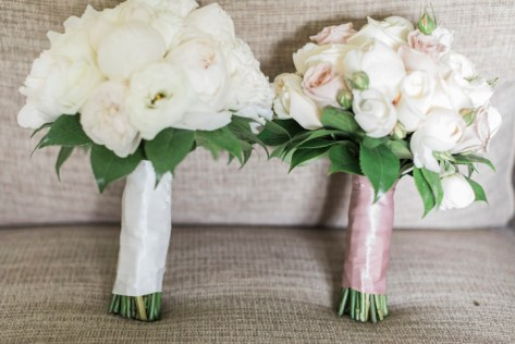 White and blush wedding bouquets - Beautiful simple + elegant outdoor wedding under the Chateau in the garden | itakeyou.co.uk - garden wedding ,outdoor wedding ,blush wedding