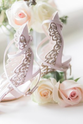 Elegant bridal shoes - Beautiful simple + elegant outdoor wedding under the Chateau in the garden | itakeyou.co.uk - garden wedding ,outdoor wedding ,blush wedding