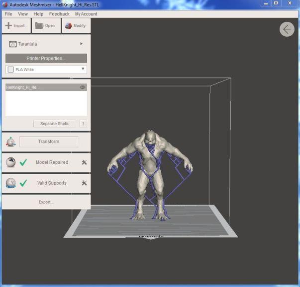 Repair STL with Meshmixer