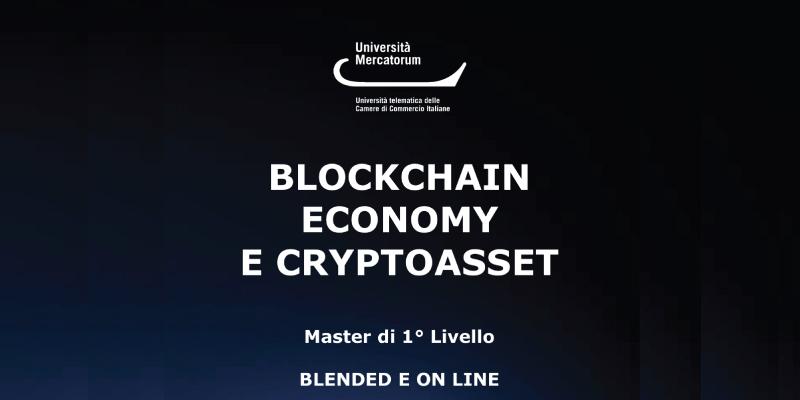 BLOCKCHAIN ECONOMY E CRYPTOASSET Master di 1° livello