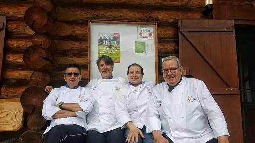 Marco Valli, Gianni Tarabini, Michele Pedrazzini e Piero Canclini