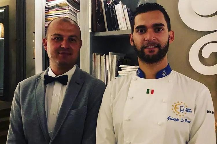 Il maitre George e Giuseppe Lo Presti - Lo Presti a Villa Sassolini Cucina di felici ricordi... toscani
