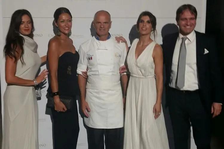 Veronica Berti (moglie di Bocelli), Francesca Porro (moglie di Derflingher), Enrico Derflingher, Elisabetta Canalis, Luigi Lauro (managing director di Excellence Magazine)