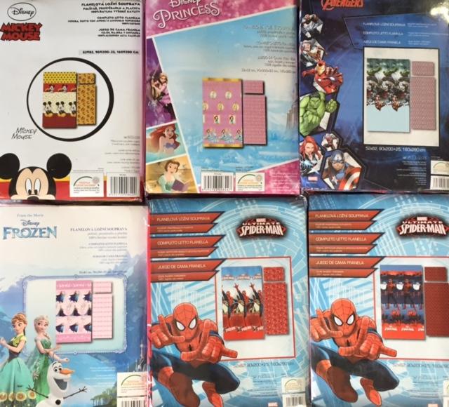 1/8331 - Completo letto singolo in flanella con i disegni dei cartoni  animati - 902.951125.00 - Italia Biancheria