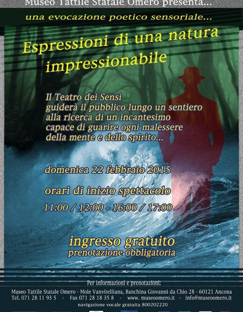 Il 22 febbraio un percorso poetico sensoriale al buio al Museo Omero di Ancona