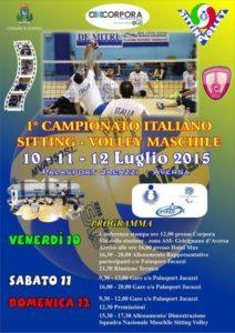 Manifesto Sitting Volley 500x706.jpg 212x300 - Dal 10 al 12 luglio ad Aversa (Ce) il primo campionato italiano di sitting volley maschile con le rappresentative regionali