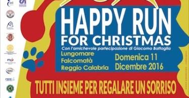 """Locandina Happy Run2 - Giusy Versace lancia la """"Happy Run for Christmas"""" a Reggio Calabria"""