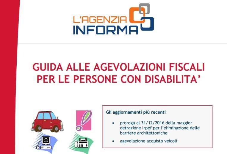 Guida alle agevolazioni fiscali per le persone con disabilità 2017