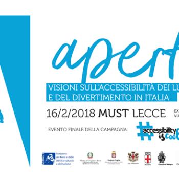 Aperta – visioni sull'accessibilità dei luoghi della cultura e del divertimento in Italia
