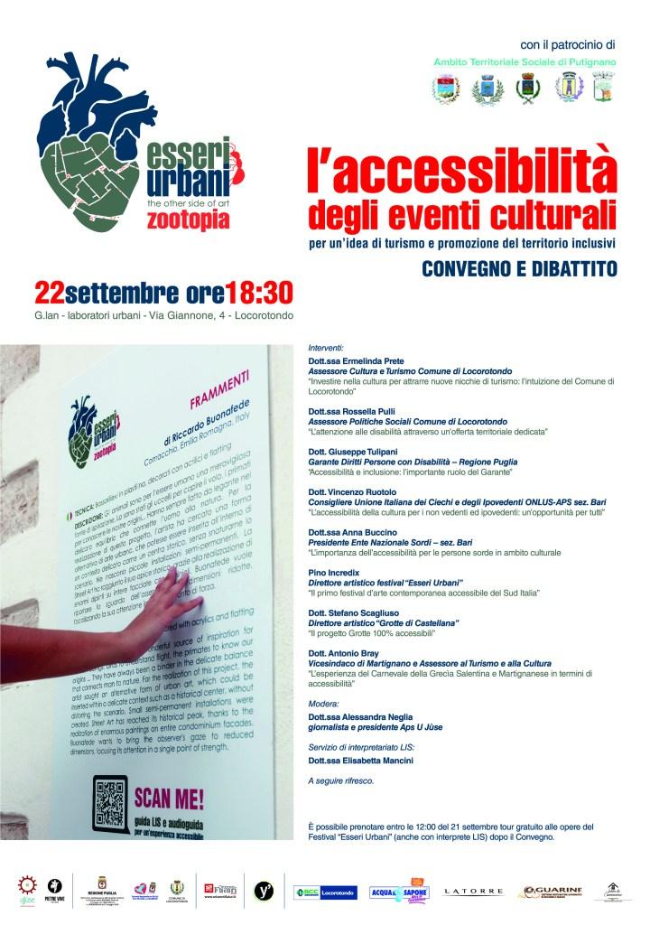 """esseri urbani 720x1024 - Esseri Urbani : Convegno """"L'accessibilità degli eventi culturali"""" a Locorotondo (Ba)"""
