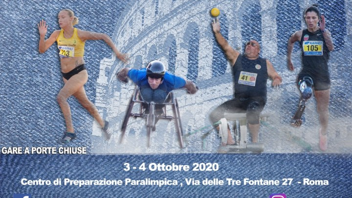 Roma, Atletica paralimpica: sabato 3 e domenica 4, i big azzurri in pista e pedana per i Societari di specialità