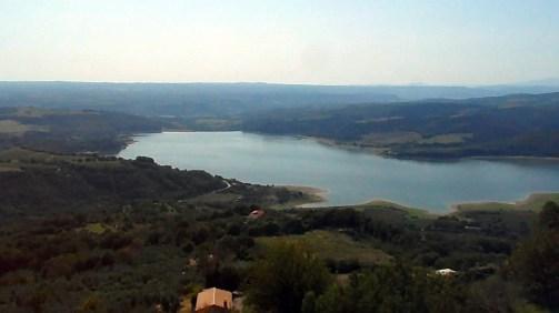 Lago di Corbara da Civitella