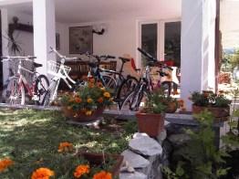 Er staan 4 fietsen klaar voor de gasten