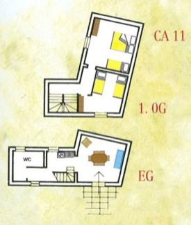 Appartement Vernaccia | Plattegrond