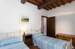 Appartement Brunello | Slaapkamer met twee 1-persoonsbeddeb