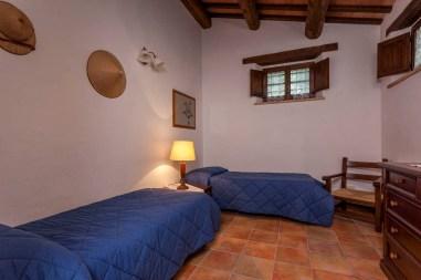 Vakantiehuis Quercia | Slaapkamer met twee 1-persoonsbedden