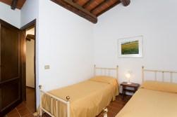 Appartement Vernaccia | Slaapkamer 2 met twee 1-persoonsbedden