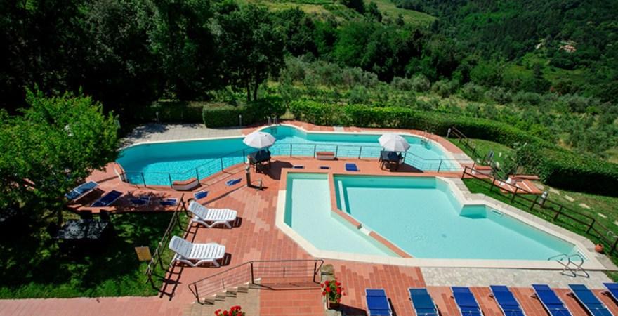 Agriturismo met zwembad in Toscane, Italie