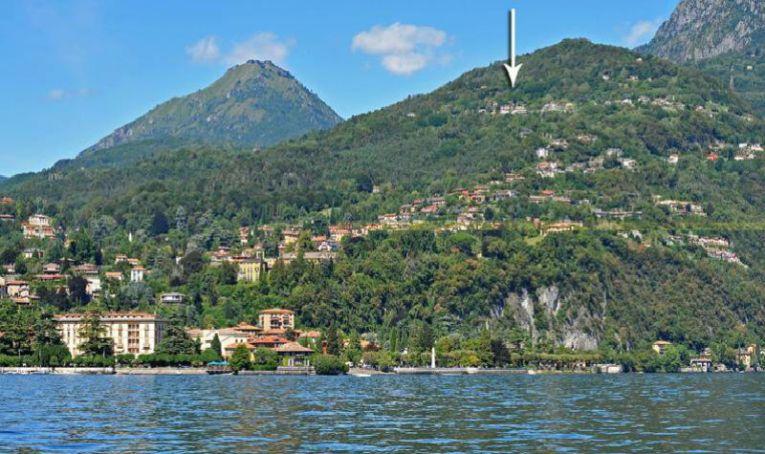 Ligging in de heuvels boven Menaggio
