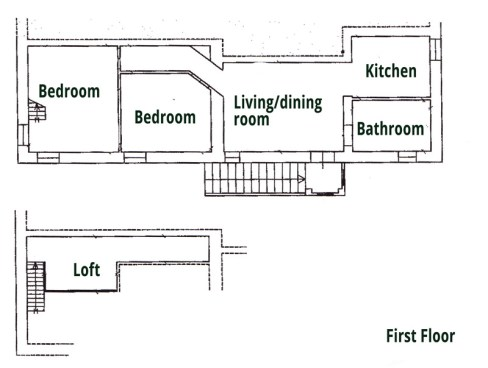 Appartement bovenverdieping