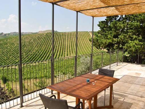 Appartement Liquirizia | Groot terras met mooi uitzicht op de wijngaarden