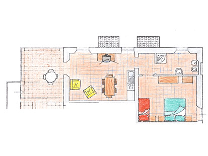 Appartement Ginepro | Plattegrond