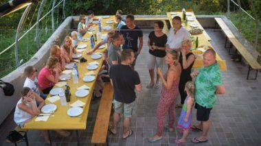 Samen eten met de andere gasten