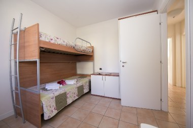 Appartement Orchidea 1 | Slaapkamer 2 met stapelbed