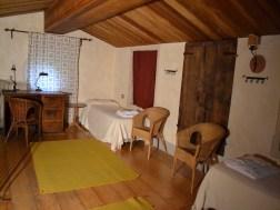 De grote slaapvide (25 m2) met twee 1-persoonsbedden en een slaapbank voor in totaal 4 personen