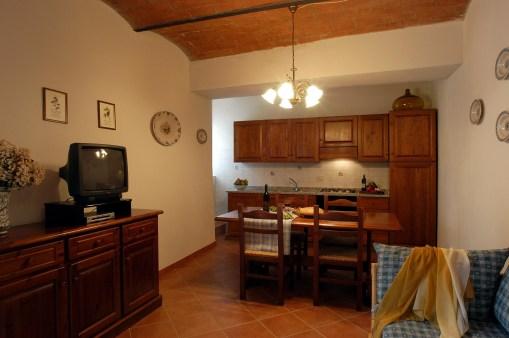 Appartement Raffaello   Woonkamer met open keuken