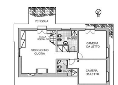 Plattegrond van het appartement