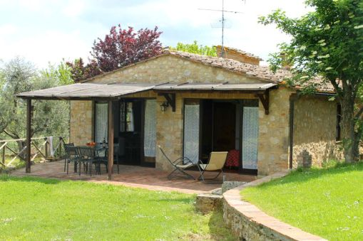 Het vakantiehuisje met een overdekt prive-terras
