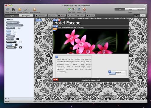 ishot 1231021 Flux, lapplicazione avanzata per il web design