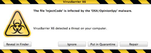Mac Virus Intengo 001 Intego: Scoperto Trojan (OpinionSpy) che infetta e raccoglie dati personali sui sistemi Mac