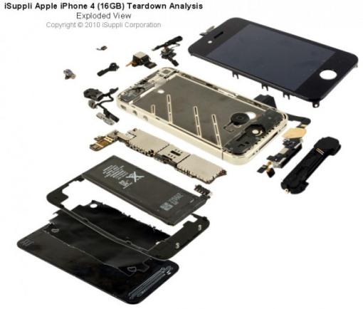 apple iphone4 iSuppli iSuppli: Il nuovo iPhone 4 ha un valore di soli 187,51 Dollari (153 Euro)
