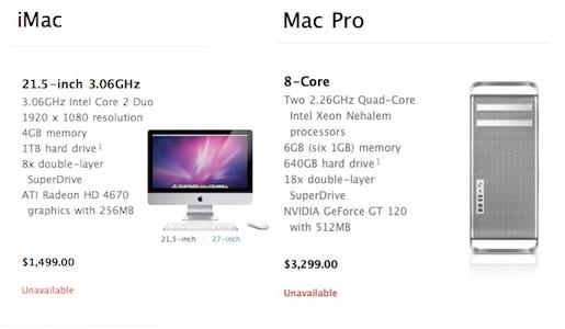 imac macpro iMac e Mac Pro: iniziano a diminuire le scorte. In arrivo nuovi modelli?