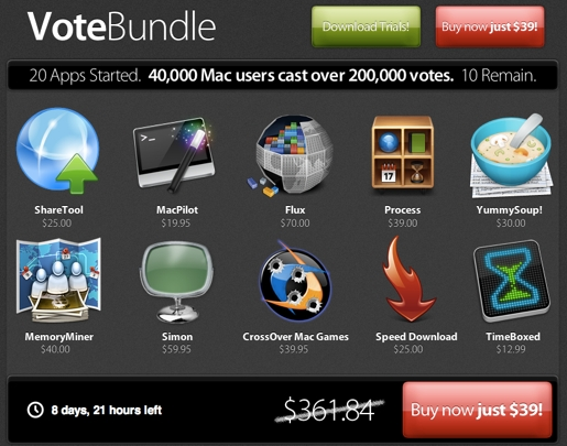 votebundle VoteBundle, 10 applicazioni a 39$ e Dream Capture gratis senza acquisto!