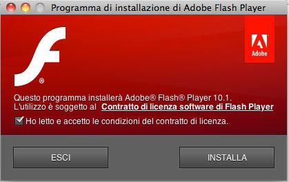 FlashPlayer10.1 001 Adobe ha rilasciato la versione finale di Flash 10.1 che supporta laccelerazione GPU