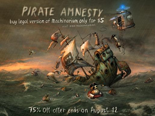 machinarium Machinarium in offerta a 5$ per combattere la pirateria