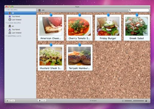 yumapp Yum, il ricettario digitale per Mac!