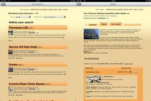 hotelipad2 500x333 Hotels for iPad, scegliere è diventato semplice.