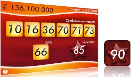 superenalotto iphone Estrazioni SuperEnalotto, i risultati sempre in tasca!