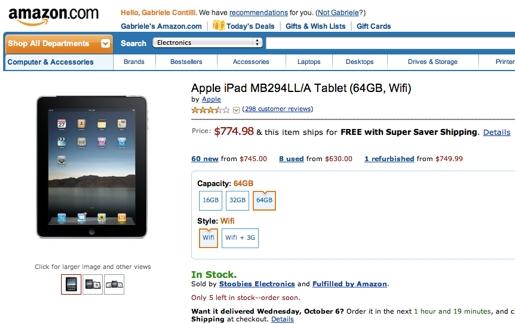 amazon ipad Amazon ha iniziato a vendere direttamente liPad