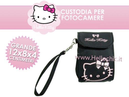 hello kitty custodia La custodia di Hello Kitty protegge la fotocamera digitale... con un tocco di allegria