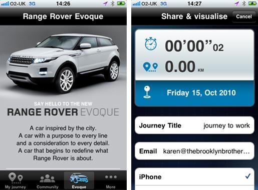 rangerover01 Range Rover Evoque lancia la sua app per iPhone Pulse of the city