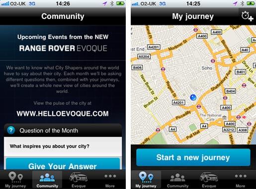 rangerover02 Range Rover Evoque lancia la sua app per iPhone Pulse of the city